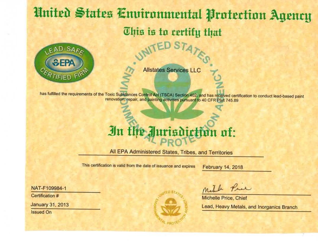 EPA - Lead Safe Certified Firm