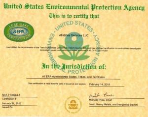 Industry Certification Allstates Restoration Water