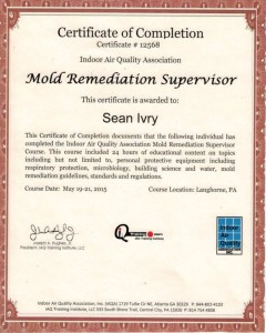 IAQ Mold Remediation Supervisor
