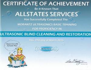 Morantz Ultrasonic Certificate