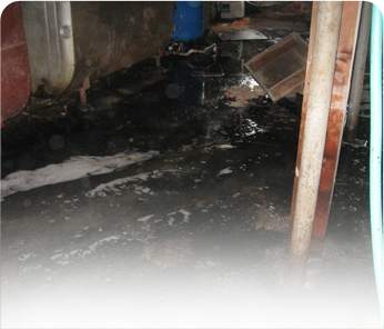 Sewer backup cleanup Greenville