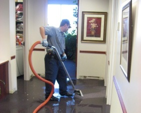 Flooded carpet water extraction contractor Ridgewood Village New Jersey