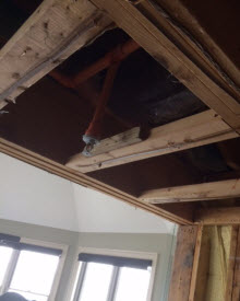 Attic Fire Sprinkler Leaking Water Damage NJ, NY