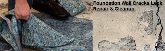 Foundation Wall Cracks Leak Repair Water Damage Cleanup