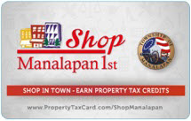 Shop Manalapan 1st Program Card