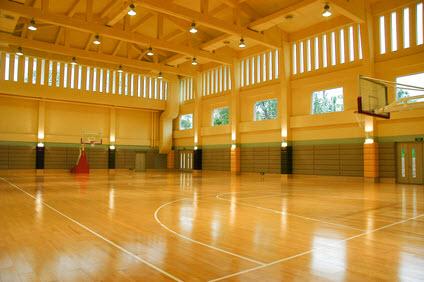 Water Damage in School gym NJ NY