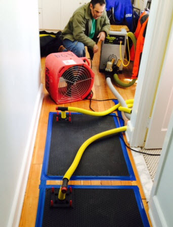 flood Extractors are used to draw water from wooden floors after a flood.