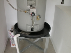 Plumbing water heater- pan