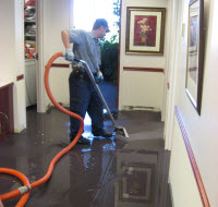 Water Removal Caused by Burst Pipe