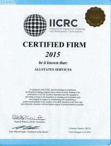 IICRC Certifide Firm-2015