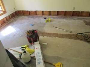 Post- Restoration work due to Water damage