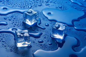 Frozen burst pipe water damage home
