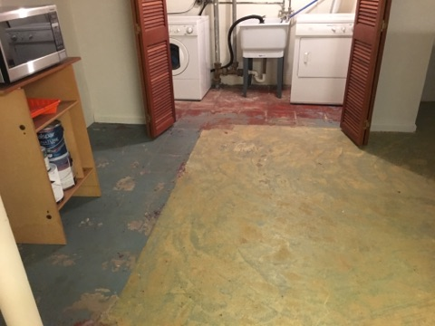 Water Damage from Hot Water Heater Leak