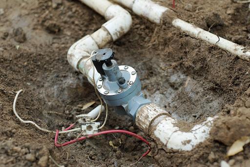 Broken Sprinkler system in Manalapan