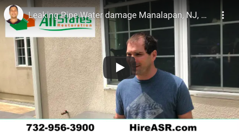 Rain Water Damage in Manalapan Home