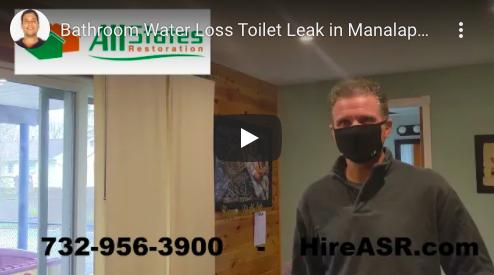 Manalapan Leaking Toilet-Water Damage