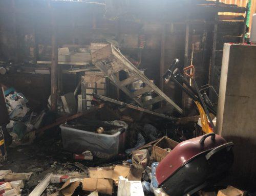 Garage Fire Damage in Irvington, NJ- Lightning Strike