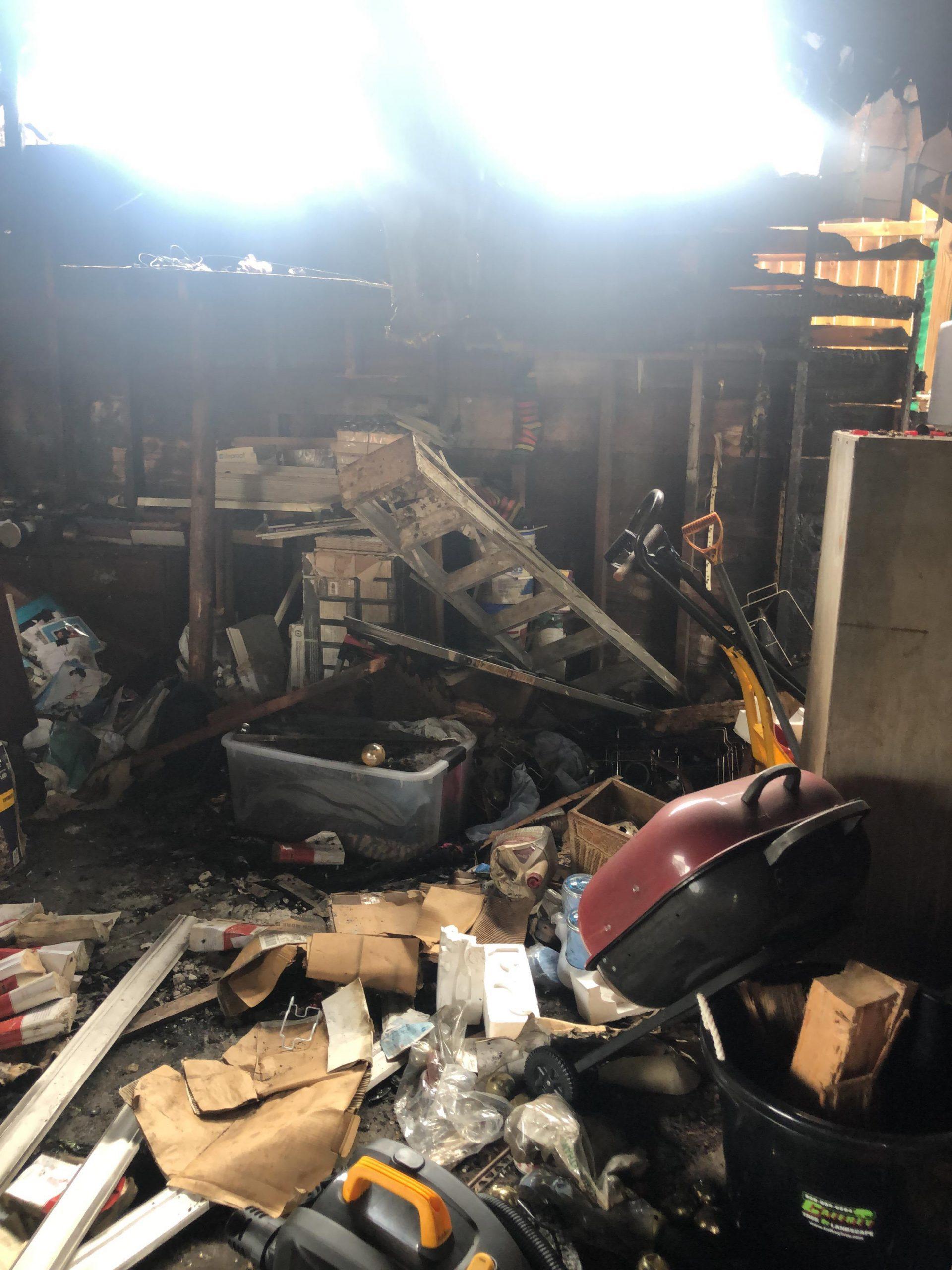 Garage Fire in Irvington, NJ