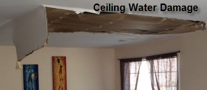 Ceiling Water Damage Clean Up & Repairs NJ NY