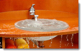 Upstairs Kitchen Sink Clogged Overflow Mercer County Water Damage Restoration NY - NJ