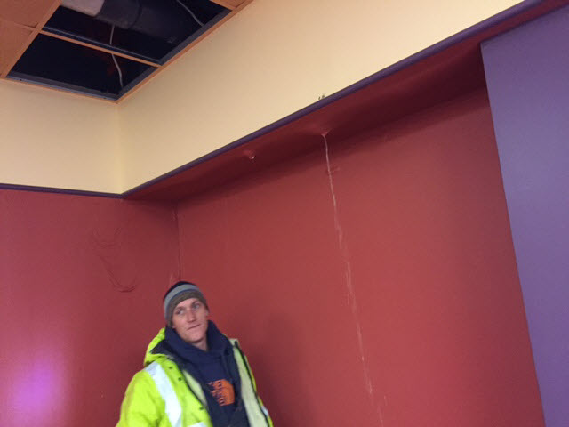 Wet Ceiling Damage Cleanup Store PA