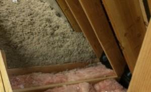 attic damage insulation