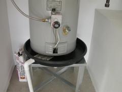 Plumbing water heater- pan