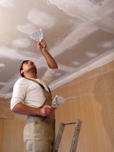 roof ceiling repair caused by leaky roof