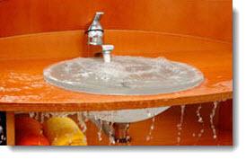 Sink over flow water damage NJ